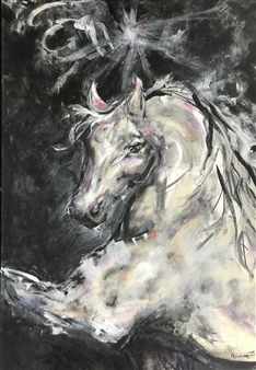 Margaret Culver - I am Star Dust Acrylic on Canvas, Paintings