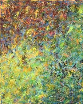 Travis Ballantyne - Spectrum Splatter Acrylic on Canvas, Paintings