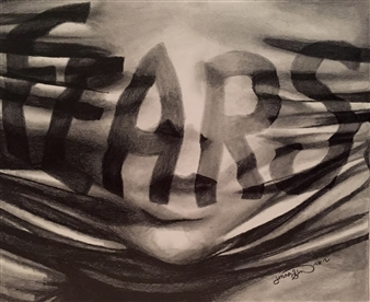 Jenna Rose Simon - Your Fears are Smothering You Pencil on Paper, Drawings