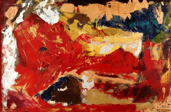 Oliwia Biela - Tangled Up In Red Oil & Acrylic on Canvas, Paintings