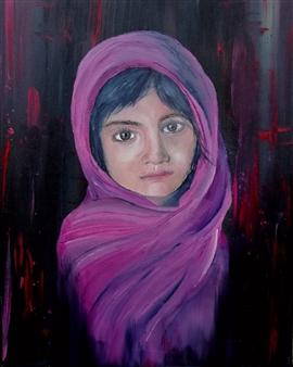 Riccardo Bartoli - Amal Oil on Canvas, Paintings
