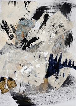Merritt Spangler - Subtle Undoing No. 17 Acrylic & Collage on Paper, Mixed Media