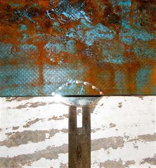Stefano Sanna - Tower Trilogy 2 Mixed Media on Plastic, Wood & Metal, Mixed Media