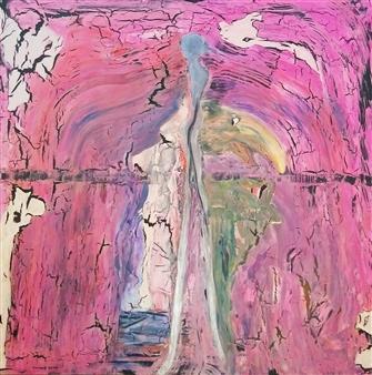 Sylke Singelmann - Die Storchfrau Acrylic on Canvas, Paintings