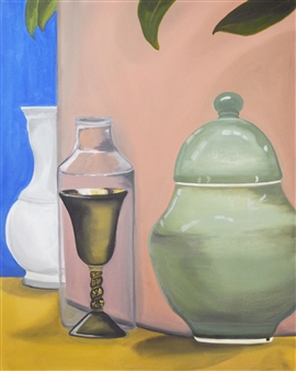 Nancy Juarez - Still Life #4 Oil on Canvas, Paintings