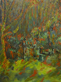 Caspar Baum - Rainforest Oil on Canvas, Paintings
