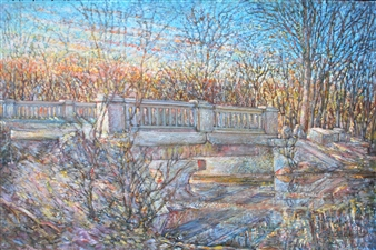 James Chisholm - Salem St Bridge Over Ipswich, 7-2 Oil on Canvas, Paintings