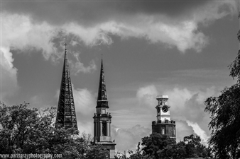 Paris Gray - Tower and Churches Archival Pigment Print, Photography