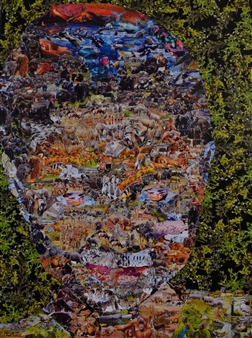 Chad Thompson - GAIA Collage on Canvas, Mixed Media