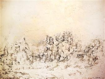 "Bulsby ""Buzz"" Duncan - Snow White Acrylic & Mixed Media on Canvas, Mixed Media"