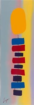 David Syre - Ona Totem Acrylic on Canvas, Paintings