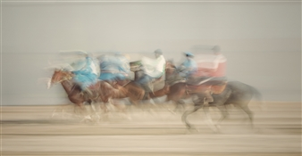 Danny Johananoff - Buzkashi Photograph on Plexiglass, Photography
