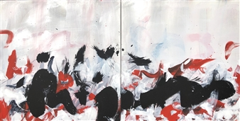 KEO - Taiji XII Acrylic & Ink on Canvas, Paintings