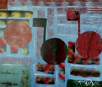 Julian Van Dyke - Musical Notes Oil on Canvas, Paintings