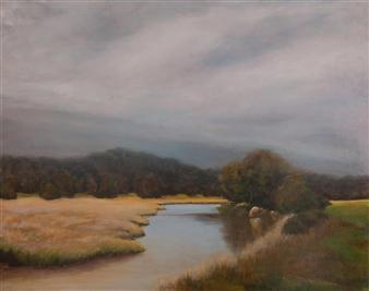 Margret Carde - The Lemon Fair in Autumn Oil on Canvas, Paintings