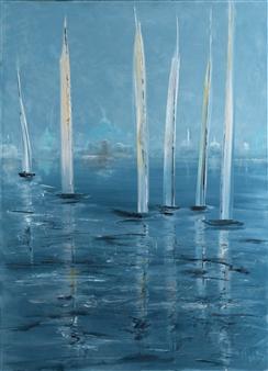 Arttiana - Silence Oil on Canvas, Paintings