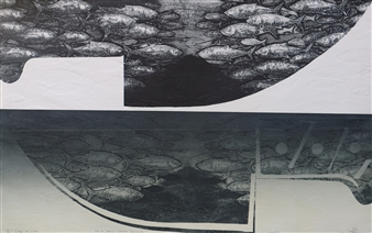 Juan Salazar - From the Series Contracorriente 8 Collograph, Prints