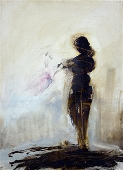 Marina Maltezou - Untitled 13 Oil on Plywood, Paintings