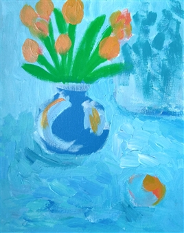 Yu He - Still Life No. 575 Acrylic on Canvas, Paintings