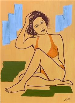 Elena Dobrovolskaya - Becoming a Woman Oil on Canvas, Paintings