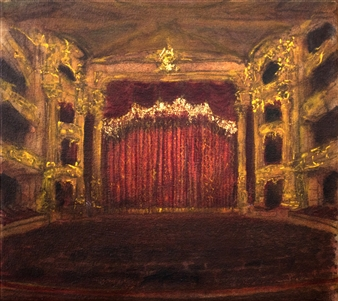 Fernando Ekman - Opera Philadelphia Oil & Pastel on Canvas, Paintings