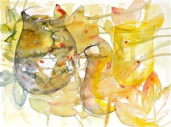 Kerstin Lundin - Ritual Watercolor on Paper, Paintings