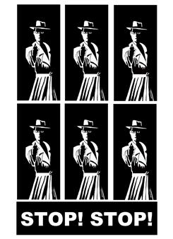 Marcos M. dos Santos - STOP! Digital Collage on Paper, Digital Art