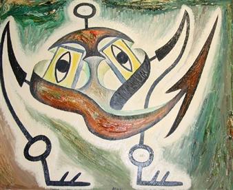Jose Pedro Alonso Miralles - La Hipótesis Precaria Oil on Canvas, Paintings