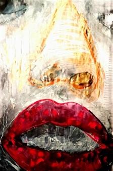 Franck Sastre - Les Lévres de Chayna Mixed Media on Canvas, Mixed Media