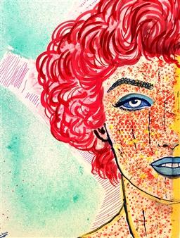 Franck Sastre - Marilyn Mixed Media on Canvas, Mixed Media