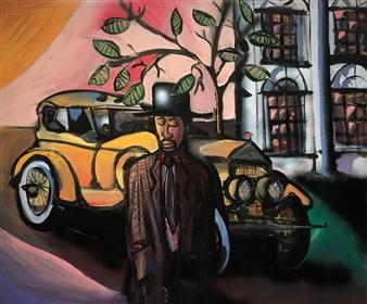 Erik Neimeijer - The Great Gatsby Acrylic & Airbrush on Linen, Paintings