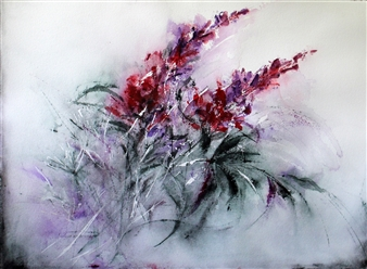 Dana Ingesson - For Wounded Souls Watercolor on Paper, Paintings