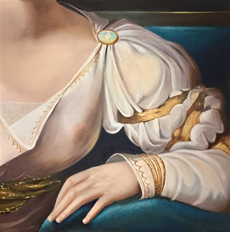 Garese - Finery / Parure N°4 Oil on Canvas, Paintings