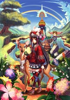 Han-Yuan Yu - A Whole New World Digital Print on Canvas, Digital Art