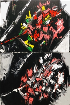 Nick Bautista - We Shall Fade, It Seems (top), In Dreams, In Dreams, In Dreams...(bottom) Acrylic on Canvas, Paintings