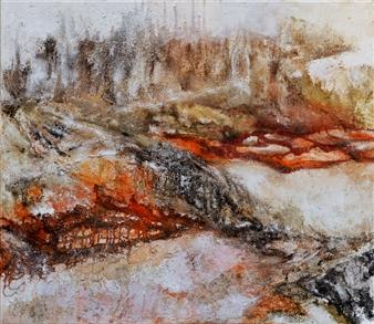 Ingrid Strecker - Magic Places III Acrylic on Sand, Paintings