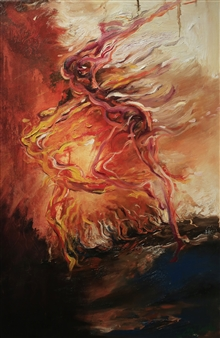 Jian Jun An - Dancing 3D Painting, Acrylic on Canvas, Paintings