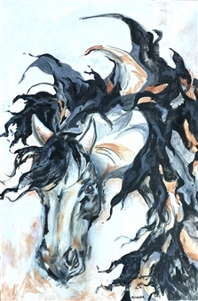 Margaret Culver - Windswept Acrylic on Canvas, Paintings