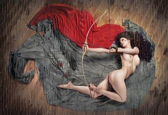 Alexander Pepe Roiz - The Amazon Archer S1 Oil on Canvas, Paintings