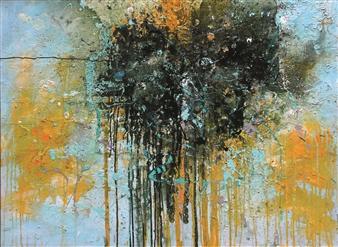 Saurabh Mohan - Deluge 4 Acrylic on Canvas, Paintings