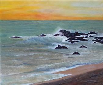 Maria Antonia Mena Lagos - Los Cobanos Oil on Canvas, Paintings