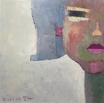 Becky Sungja Kim - Haircut Oil on Canvas, Paintings