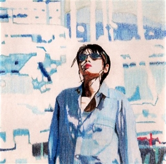 Atsushi Imai - Summer Day Colored Pencil on Paper, Drawings