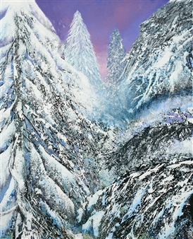 William Ingham - Winter Dawn, Blue Mtns Acrylic on Canvas, Paintings