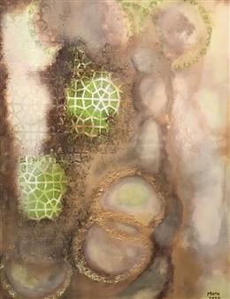 Mona Taqi - Rings Acrylic on Canvas, Paintings
