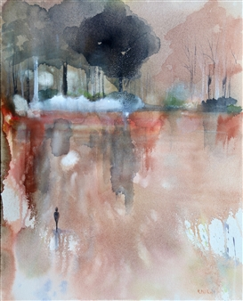 Rine Philbin - Autumn Fresh Watercolor on Paper, Paintings