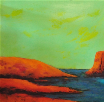 Pia Sjölin - The Heat is On Acrylic on Aluminum, Paintings