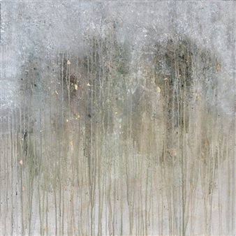 Jeannette Dannehl - Glade Acrylic & Gold Leaf on Canvas, Paintings