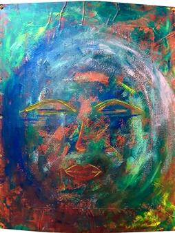 claracarat - Diva Acrylic on Kapa & Hard Paper, Mixed Media