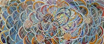 Joe Koury - Geometric Imagination Acrylic on Canvas, Paintings